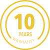 10 year warranty icon