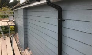An installation of HardiePlank fibre cladding