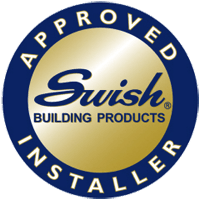 Swish approved installer badge in colour